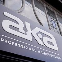 aka professional hairdresser front signage